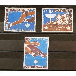 Polynésie Française, Poste Aérienne n°110-112 N** Cote 26.50€
