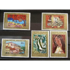Polynésie Française, Poste Aérienne n°98-102 N** Cote 55€