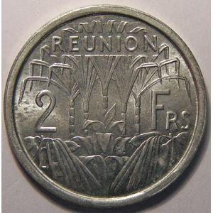 Réunion, 2 Francs 1948 SPL, Lec: 62