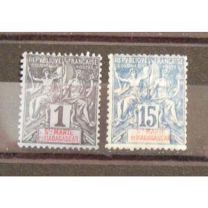 Sainte Marie de Madagascar, N°1 et 6, N* Cote 39.50€