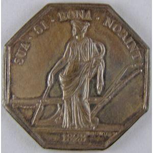 Société d'Agriculture de la Loire 1828, argent 33mm, 10.87 Grs, signé  E.Dubois,  SUP