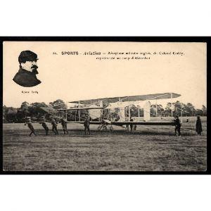 Sports - AVIATION - Aéroplane Militaire Anglais, du Colonel Coddy, expérimenté au Camp d'Aldershot
