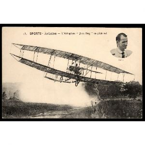 Sports - AVIATION - L'Aéroplane June Bug en plein vol