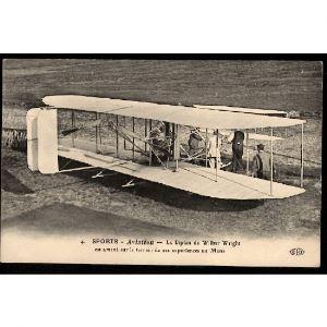 Sports - AVIATION - Le Biplan de Wilbur Wright  est amené sur le Terrain de ses expériences au MANS