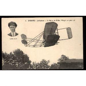 Sports - AVIATION - Le Biplan de Wilburg Wright, en Plein Vol