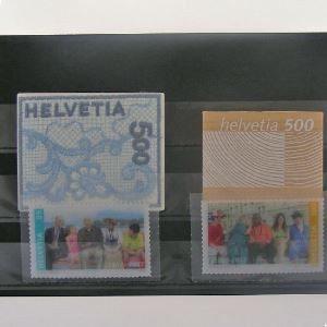 Suisse, Lot 4 timbres N**
