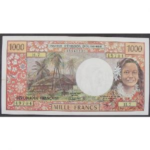 Tahiti, Papeete, 1000 Francs ND 1971, VF+