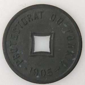 Tonkin, 1/600 ème de Piastre 1905, SUP, KM#1