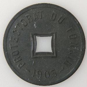 Tonkin , 1/600ème de Piastre 1905, SUP, KM #1