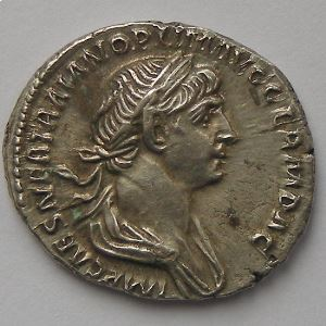 Trajan, Traianus,  Denier, R/ PARTHICO P M TR P COS VI PP SPQR , SUP