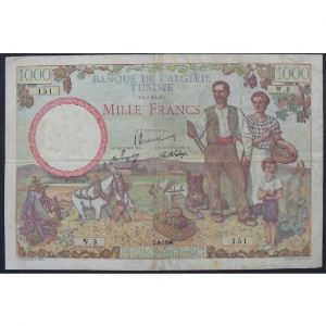 Tunisie, 1000 Francs 2.9.1946 , VF