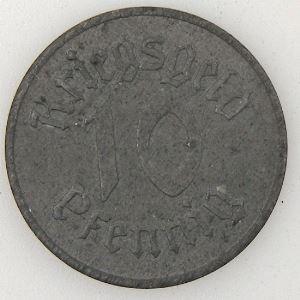 Ville de Strasbourg, 10 Pfennig 1918