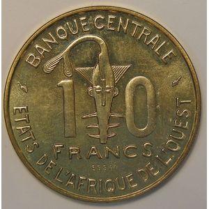 West African States, Essai, 10 Francs 1981, SPL, KM# E12